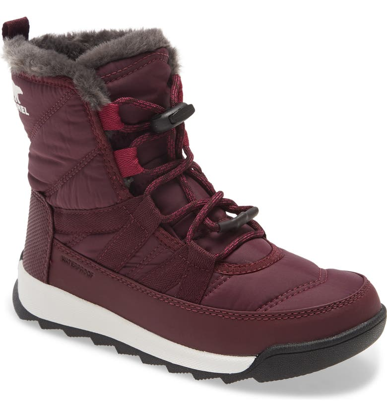 SOREL Whitney<sup>™</sup> II Short Waterproof Insulated Boot, Main, color, EPIC PLUM