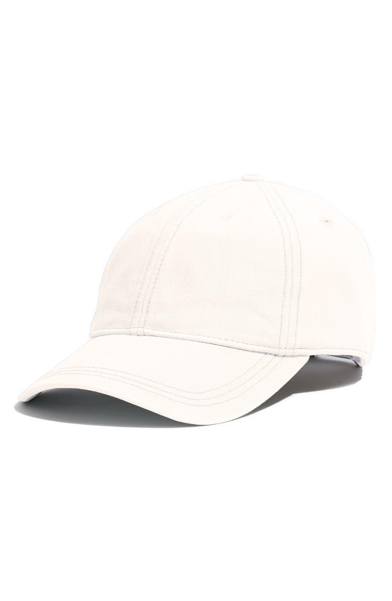 MADEWELL Faded Denim Baseball Cap, Main, color, VINTAGE BLUE WASH