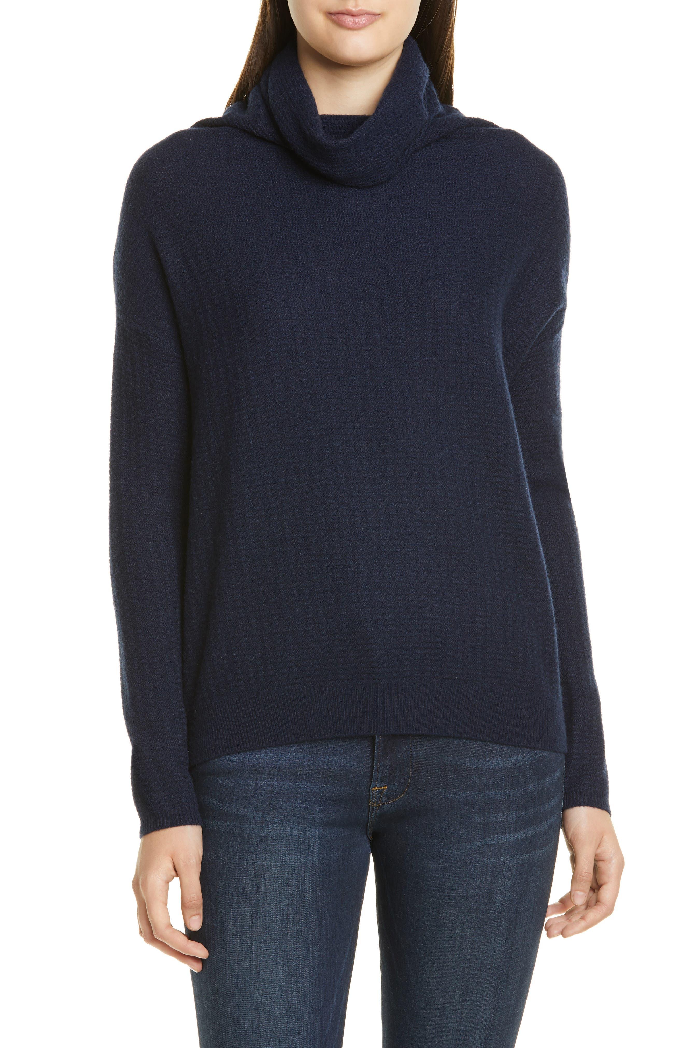 Nordstrom Signature Scrunch Neck Cashmere Sweater