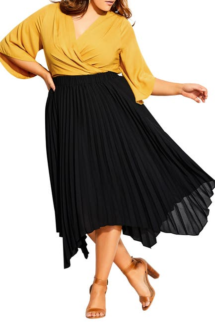 Image of City Chic Simple Pleated Skirt
