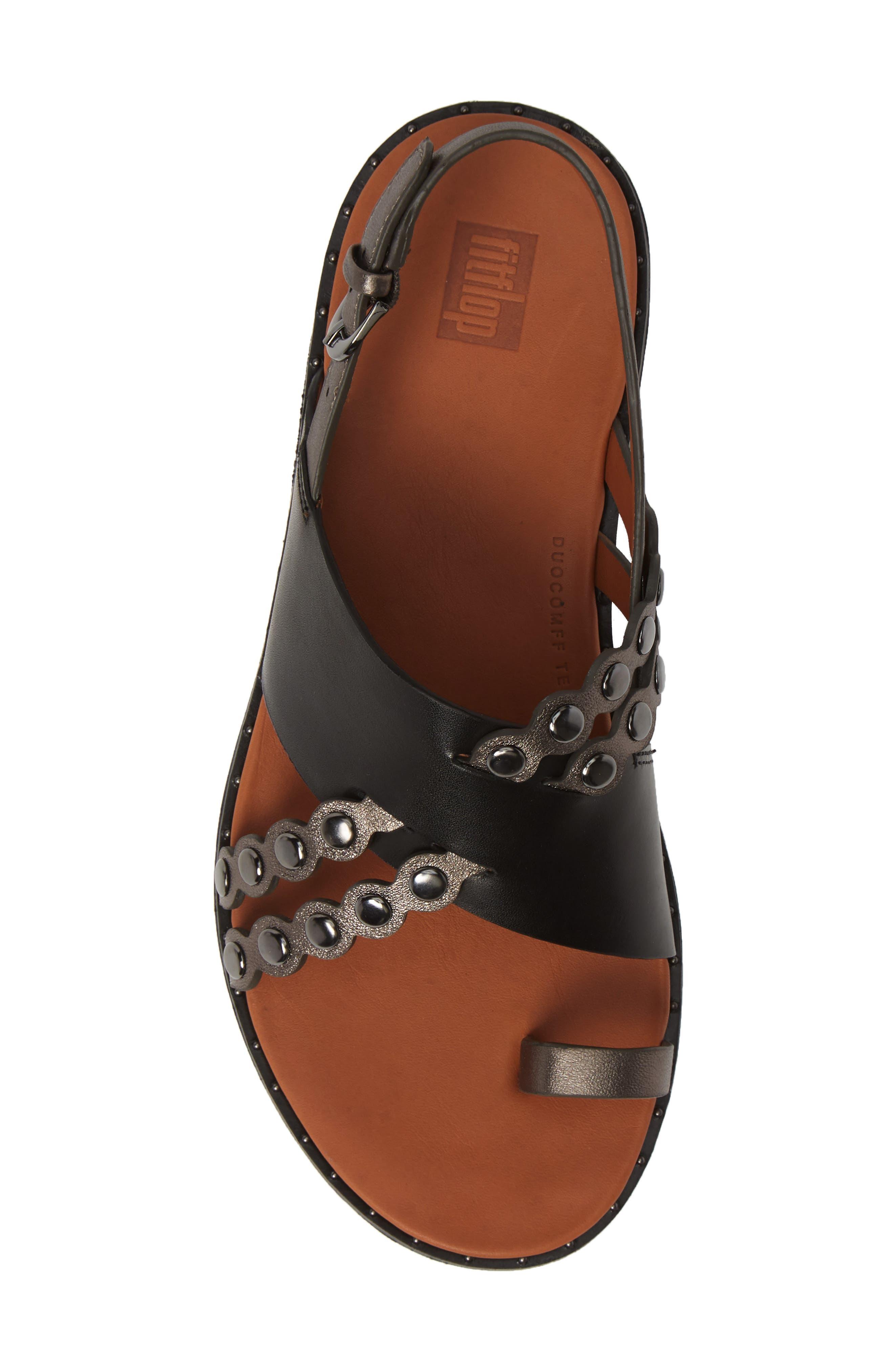 ,                             Scallop Embellished Sandal,                             Alternate thumbnail 5, color,                             001