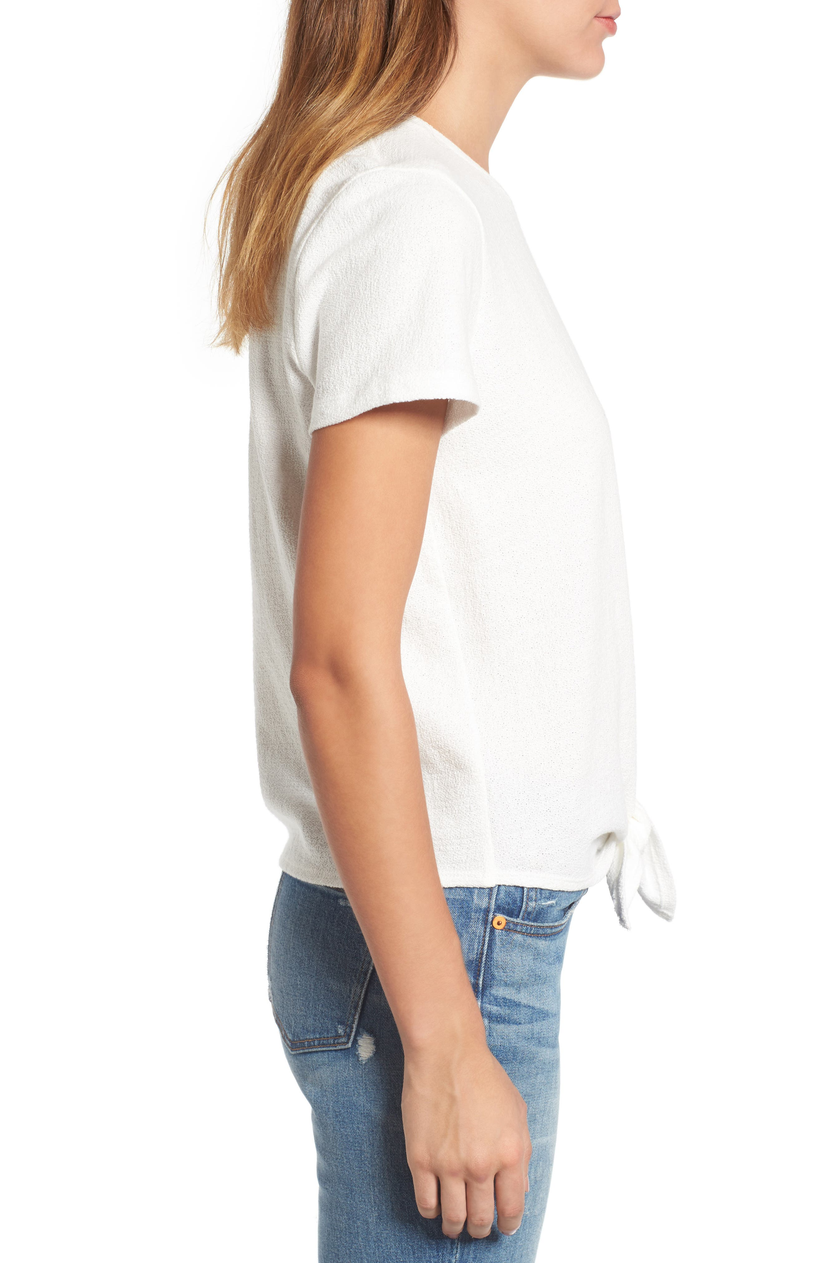 ,                             Modern Tie Front Tee,                             Alternate thumbnail 32, color,                             900