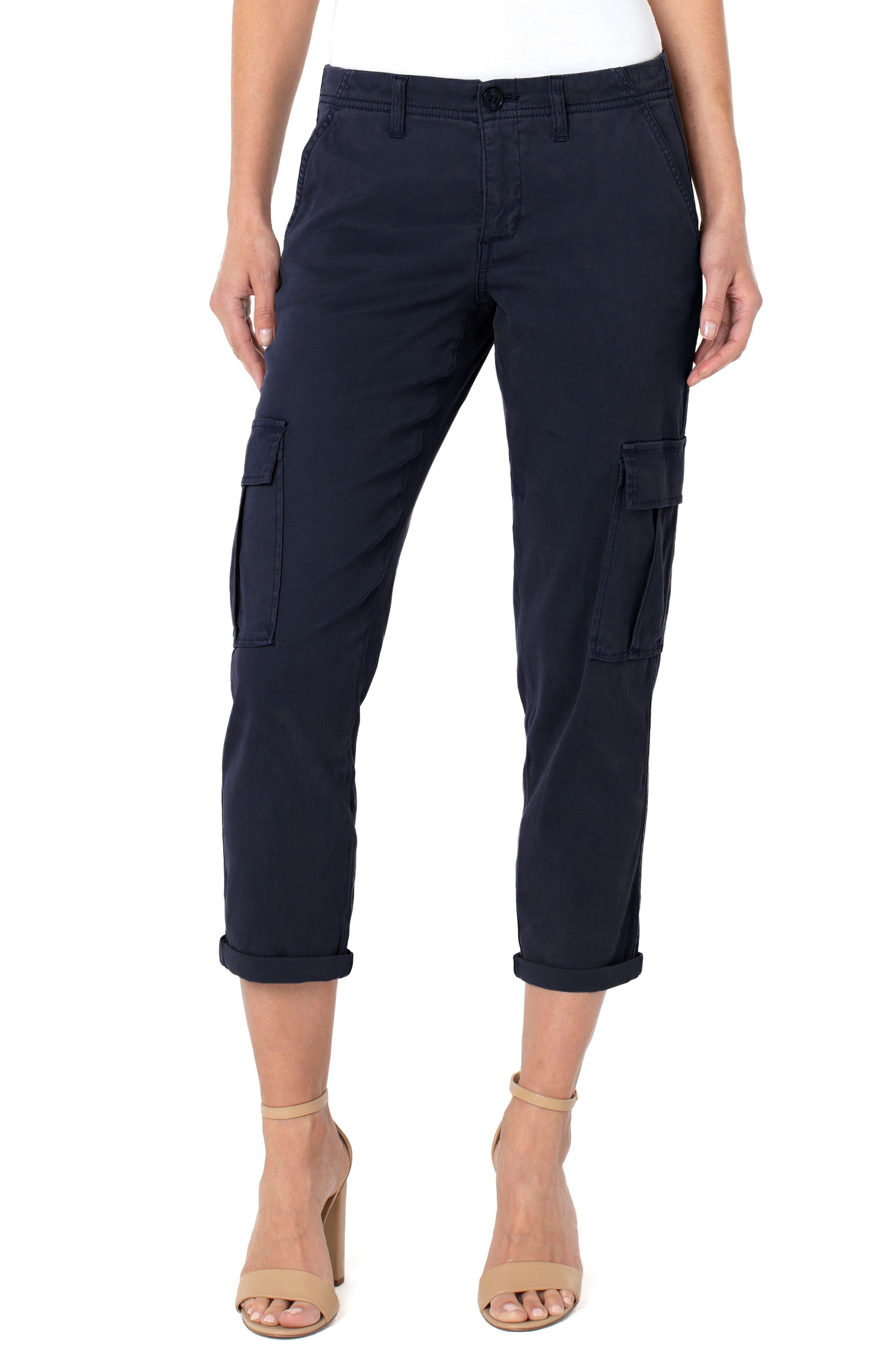 Crop Cuff Cargo Pants