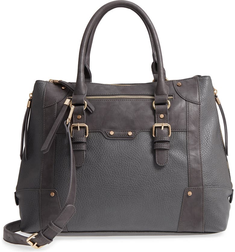 SOLE SOCIETY 'Susan' Winged Faux Leather Tote, Main, color, 020
