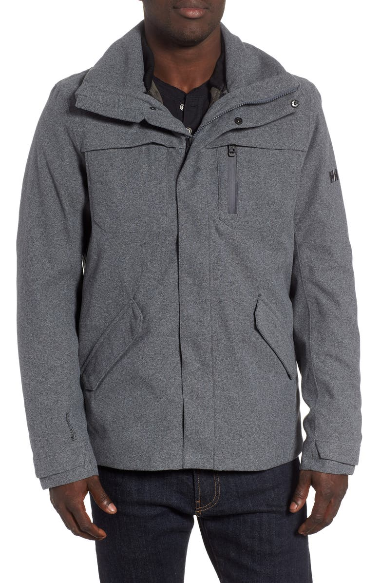 HELLY HANSEN Reykjavik Regular Fit Waterproof PrimaLoft<sup>®</sup> 3-in-1 Jacket, Main, color, CHARCOAL MELANGE