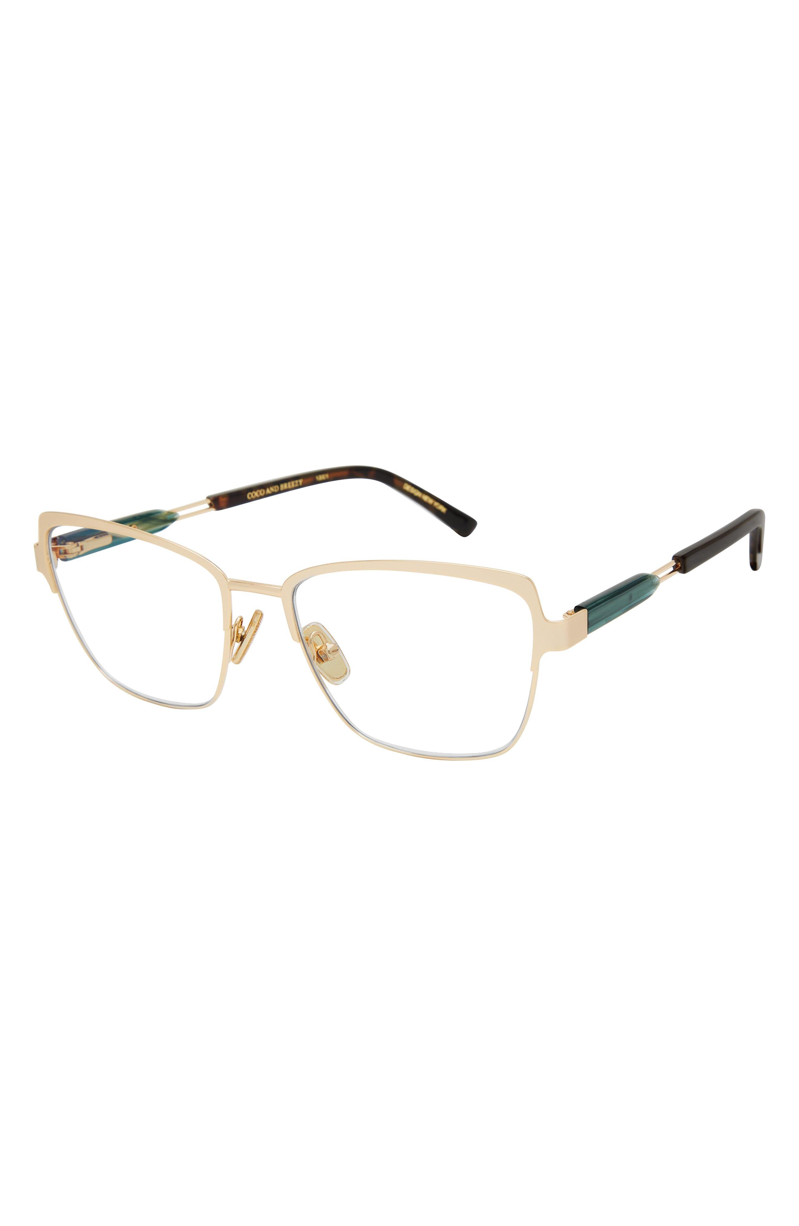 Familiar 52mm Rectangular Blue Light Glasses