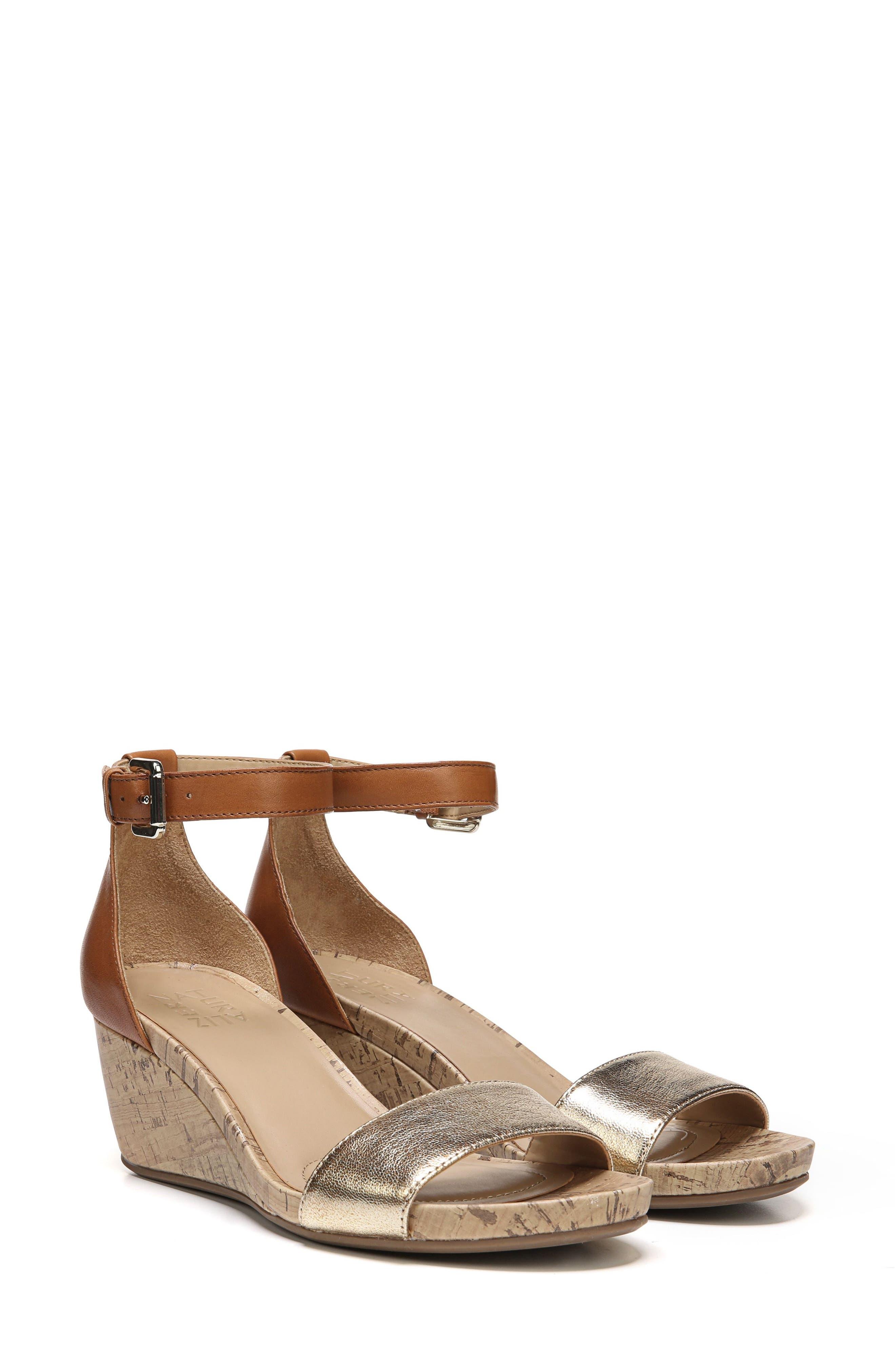 Naturalizer Cami Wedge Sandal, Brown
