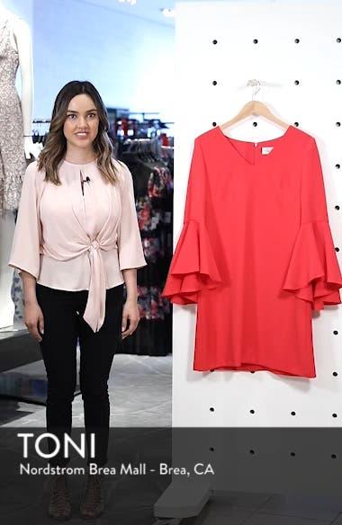 Bell Sleeve Crepe Shift Dress, sales video thumbnail