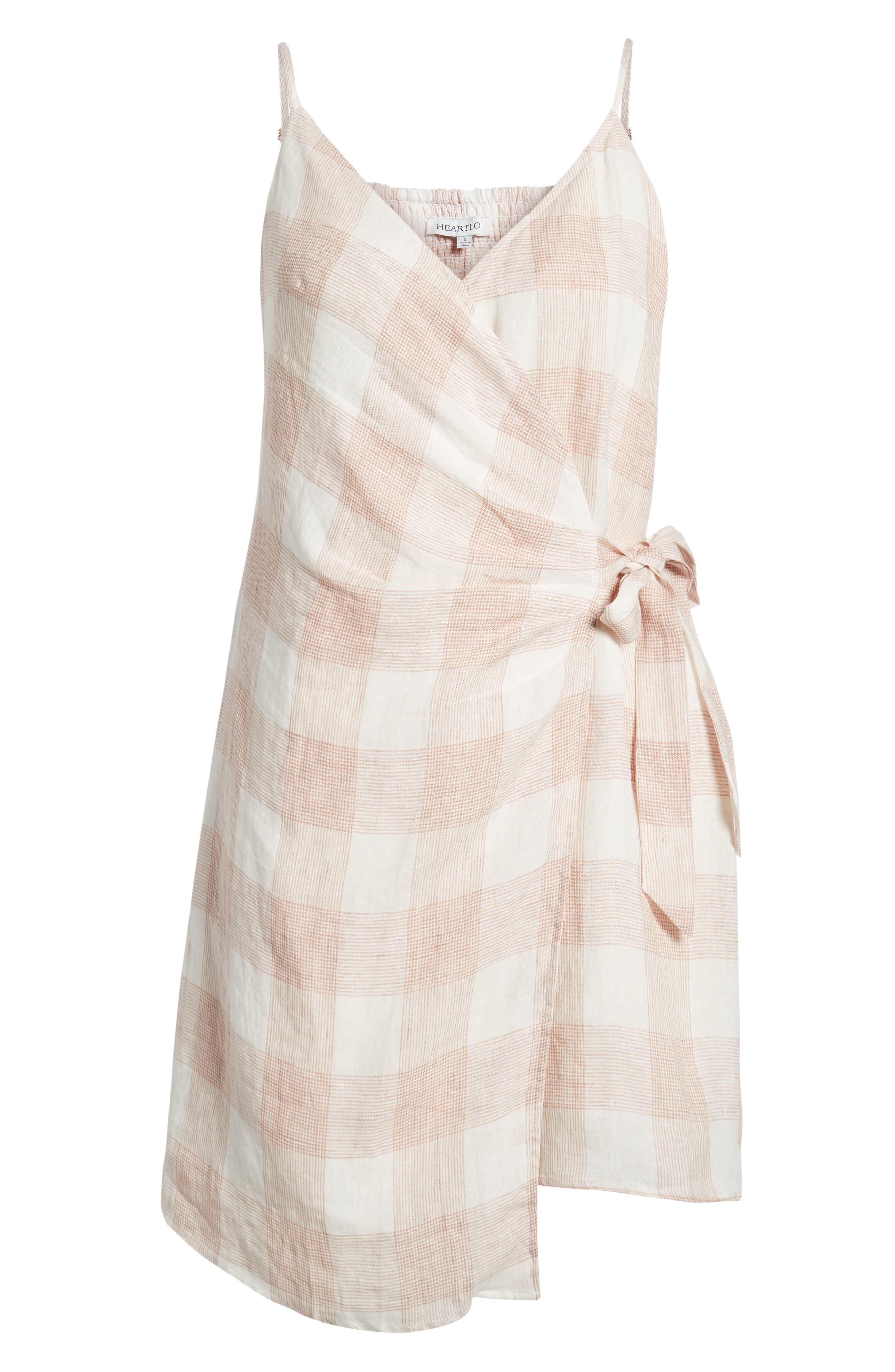 ,                             Whyatt Check Wrap Dress,                             Alternate thumbnail 7, color,                             CHECK