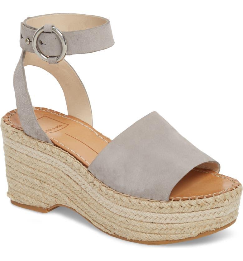 DOLCE VITA Lesly Espadrille Platform Sandal, Main, color, 020