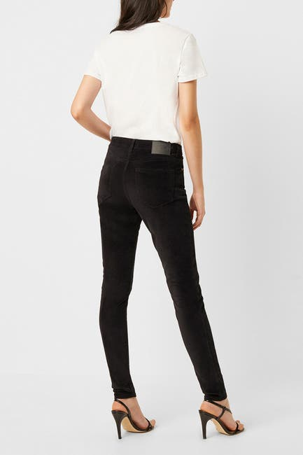 Image of French Connection Mid Rise Velveteen Skinny Jeans