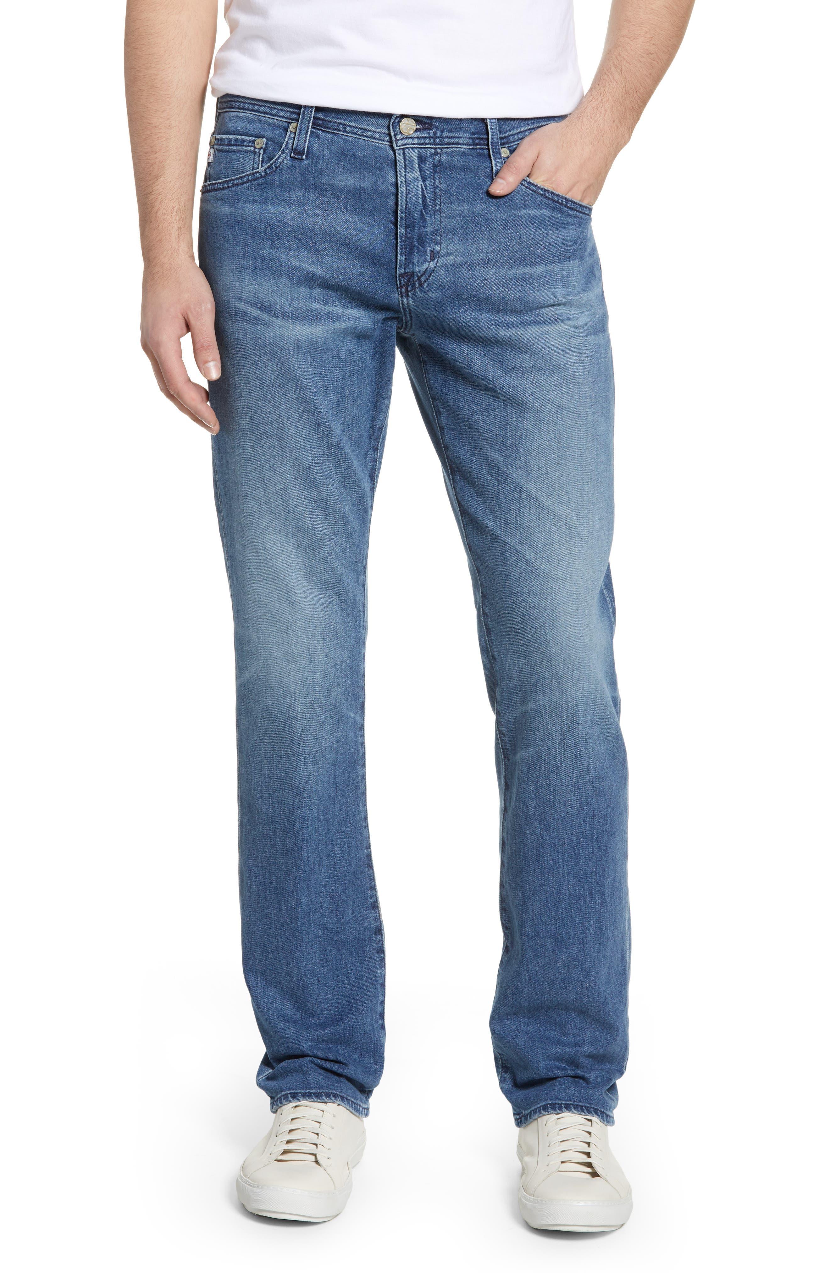 Graduate Slim Straight Leg Jeans, Main, color, 16 YEARS SATURN