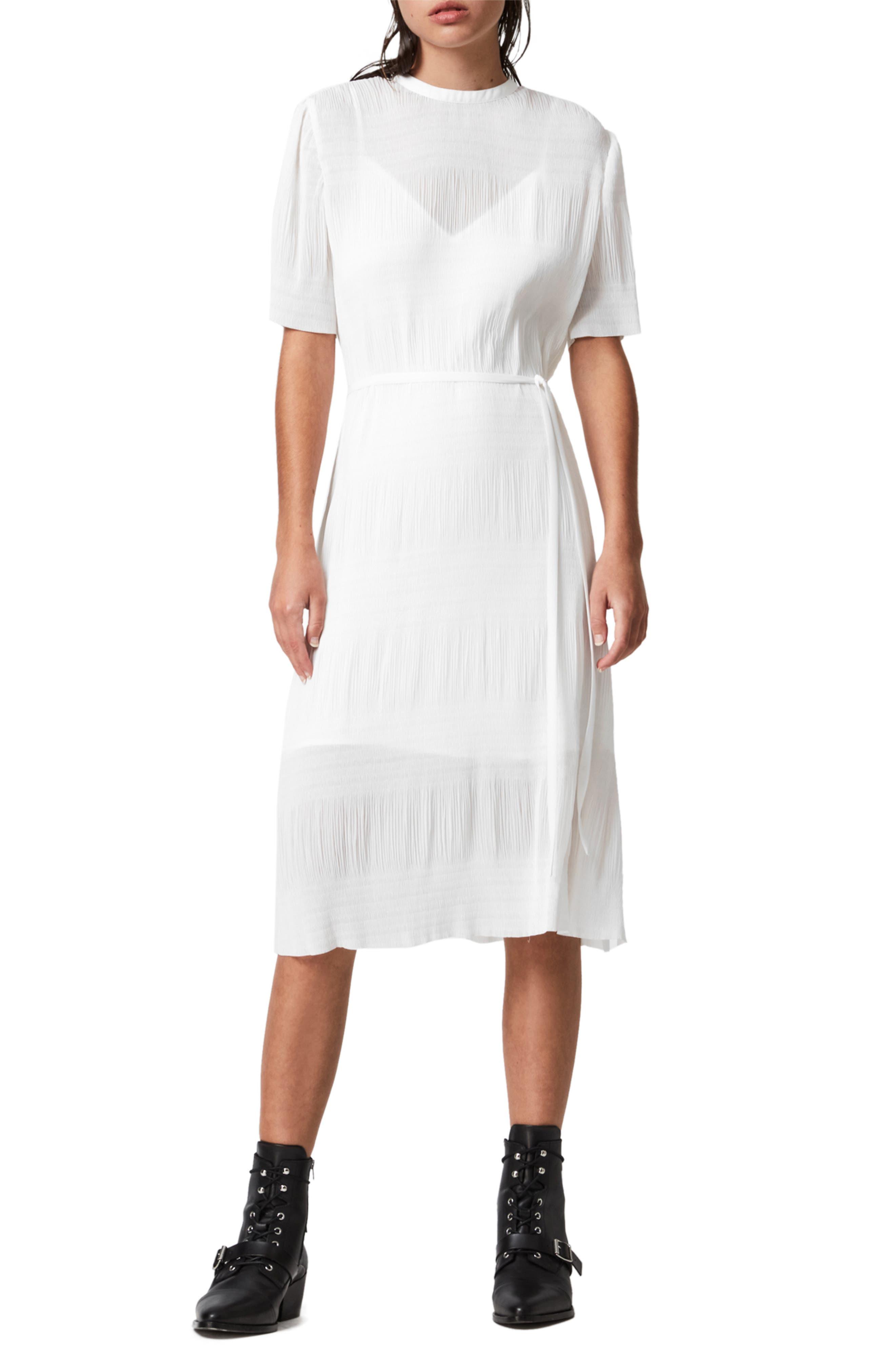 ALLSAINTS Kano Short Sleeve A-Line Dress | Nordstrom