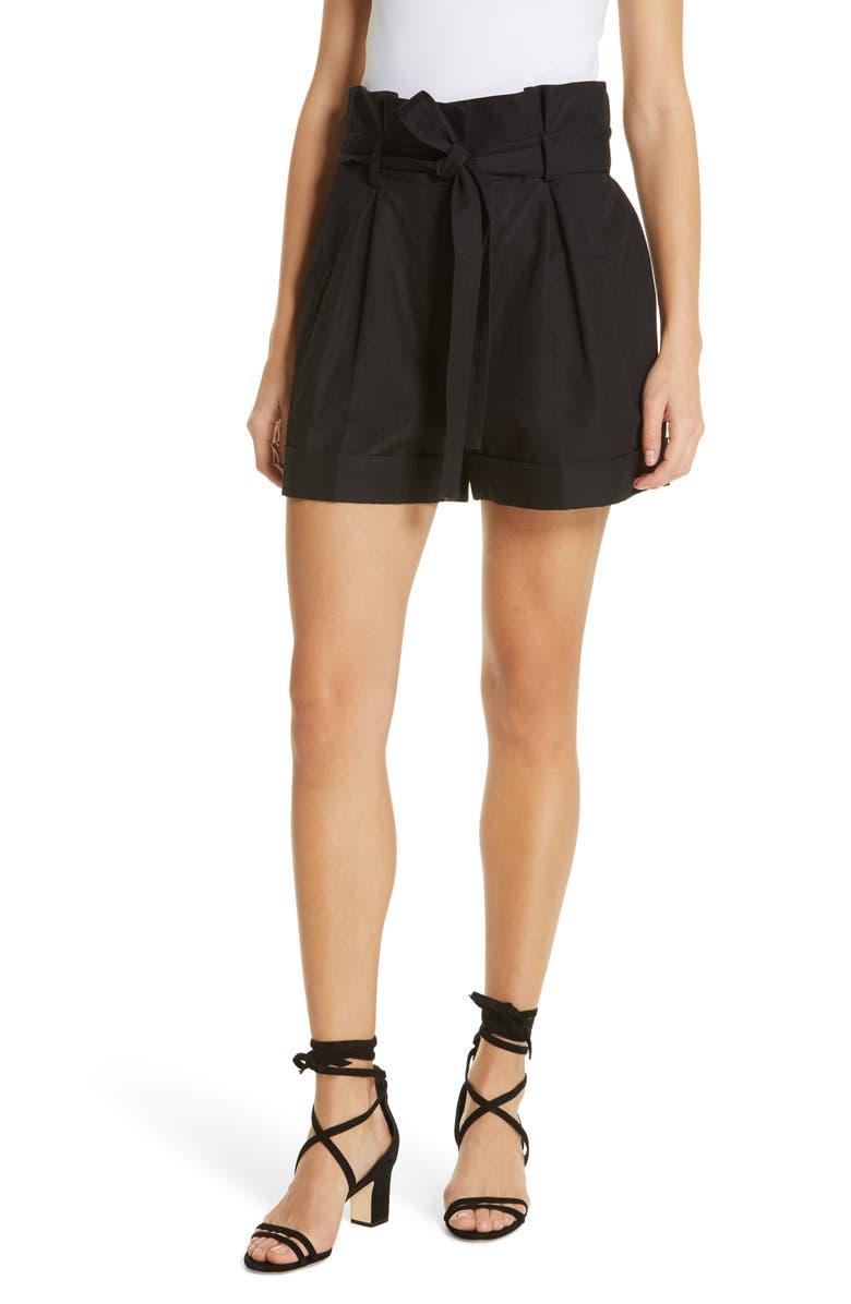ROBERT RODRIGUEZ Kelly High Waist Shorts, Main, color, BLACK
