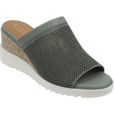 Evolve Zooey Wedge Slide Sandal- Green
