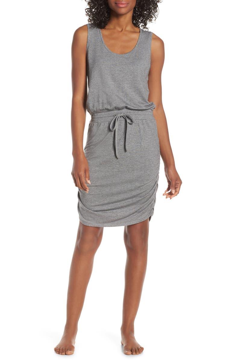ZELLA Monica Drawstring Dress, Main, color, 030