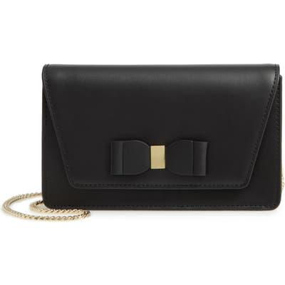 Ted Baker London Keeiira Bow Leather Evening Bag - Black