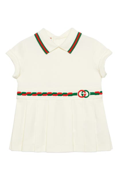 GUCCI EMBROIDERED POLO DRESS