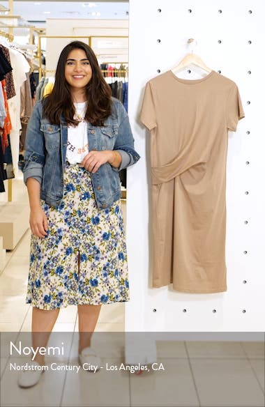 Poella Waist Detail Cotton T-Shirt Dress, sales video thumbnail