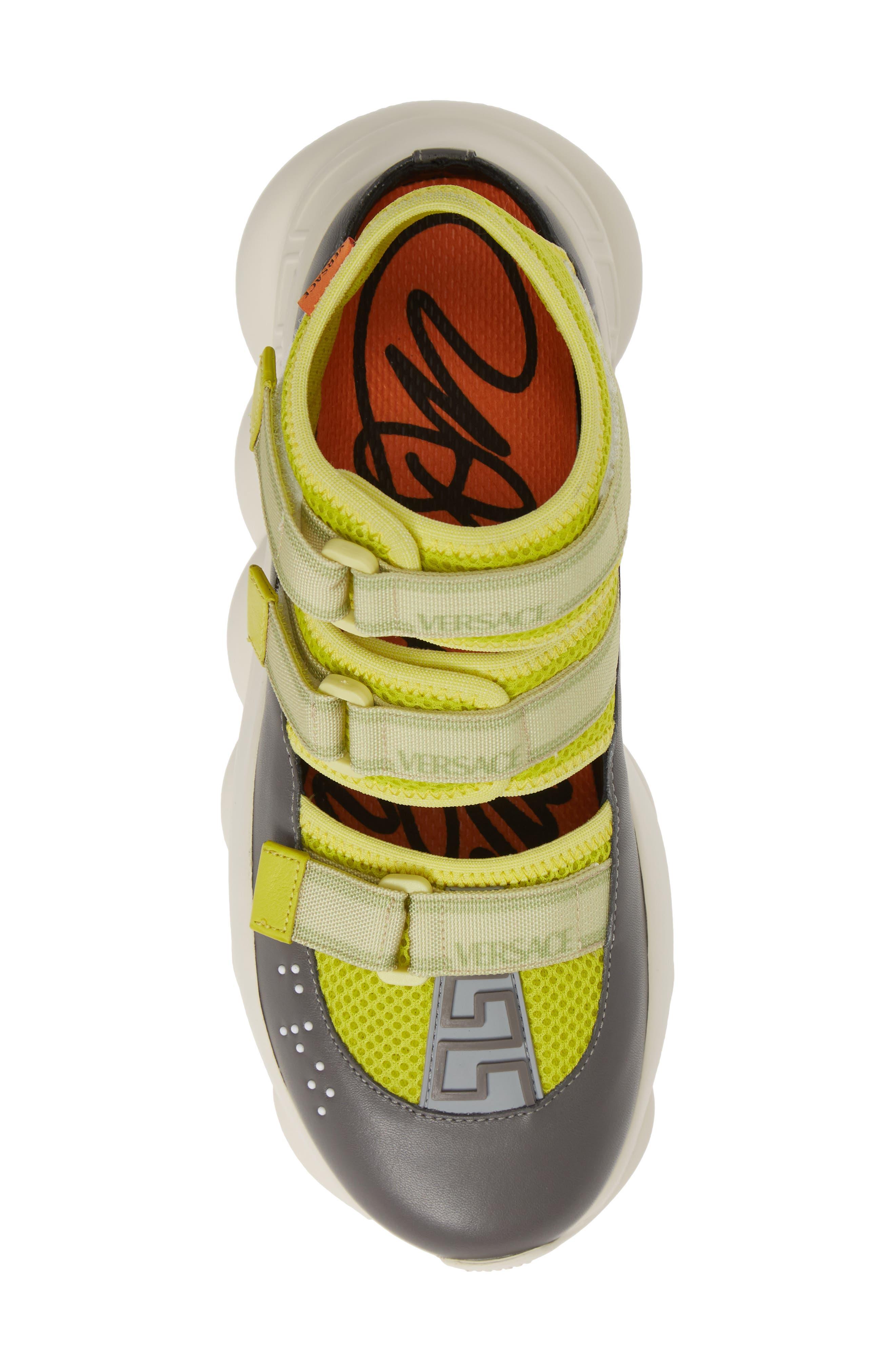 ,                             Chain Reaction Strappy Logo Sneaker,                             Alternate thumbnail 5, color,                             LIME