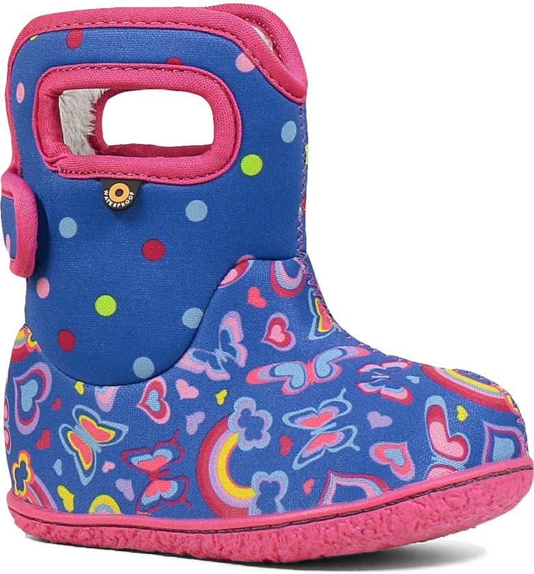 BOGS Baby Bogs Rainbows Insulated Waterproof Boot, Main, color, BLUE MULTI