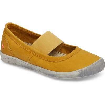 Softinos By Fly London Ion Mary Jane Sneaker - Yellow