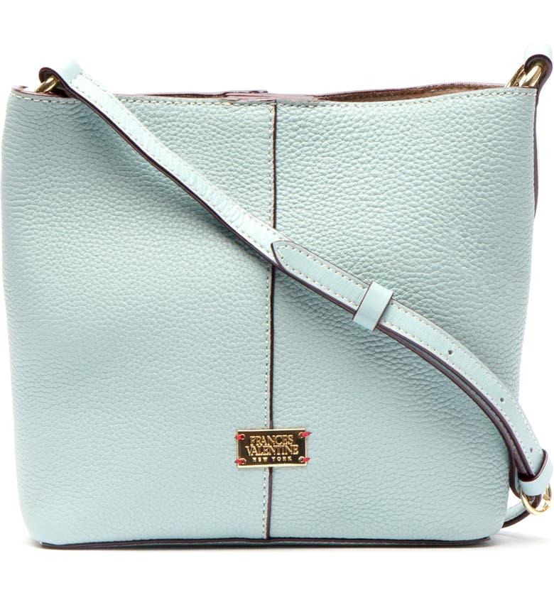 FRANCES VALENTINE Tumbled Leather Crossbody Bag, Main, color, LIGHT BLUE