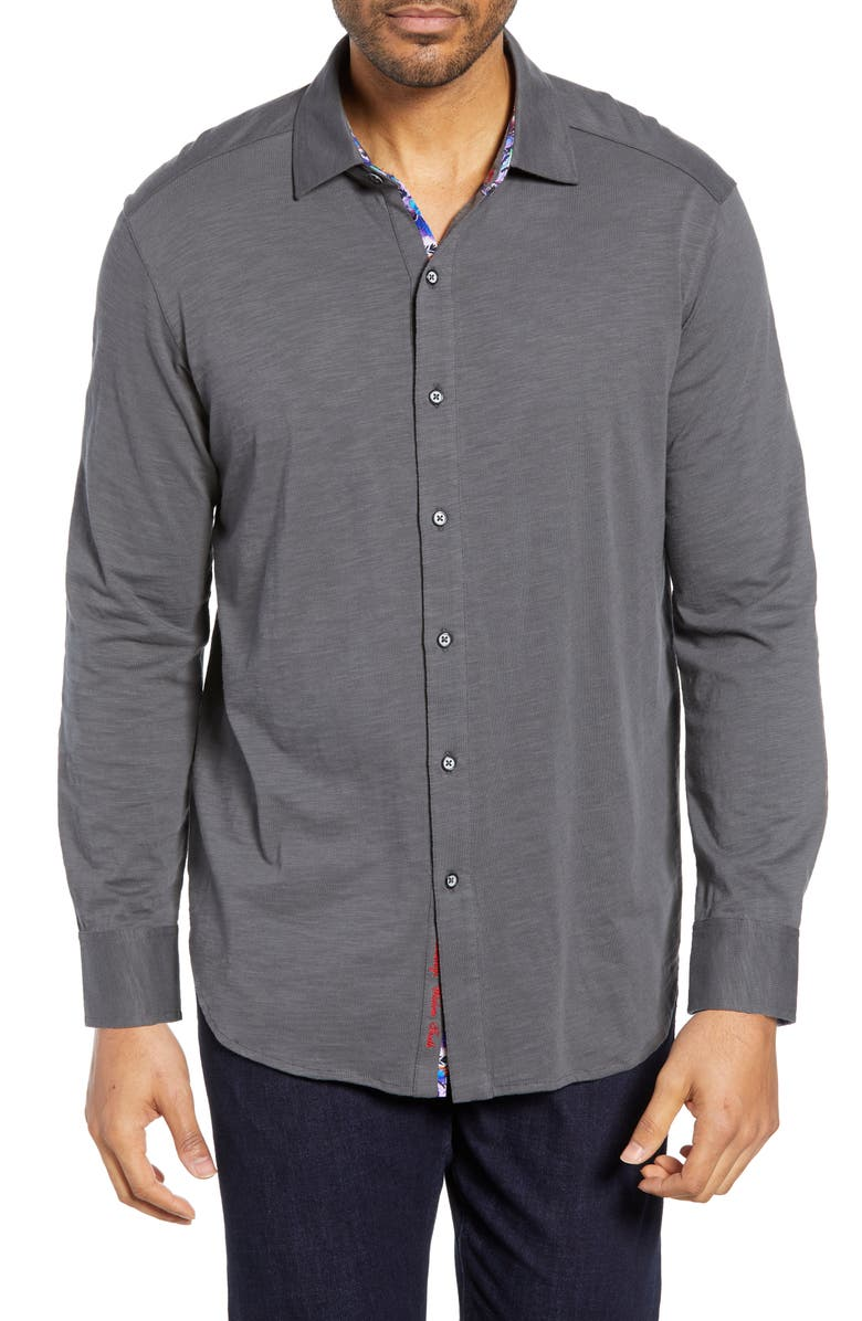 ROBERT GRAHAM Tambun Classic Fit Knit Sport Shirt, Main, color, 021