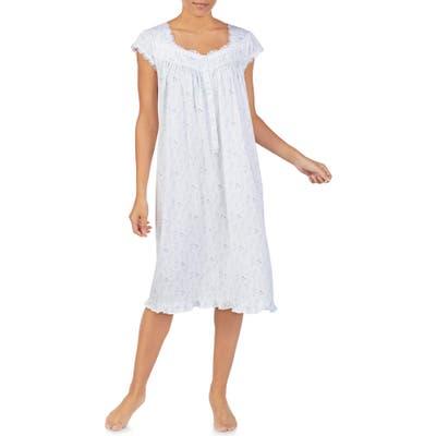 Eileen West Cap Sleeve Waltz Nightgown, White