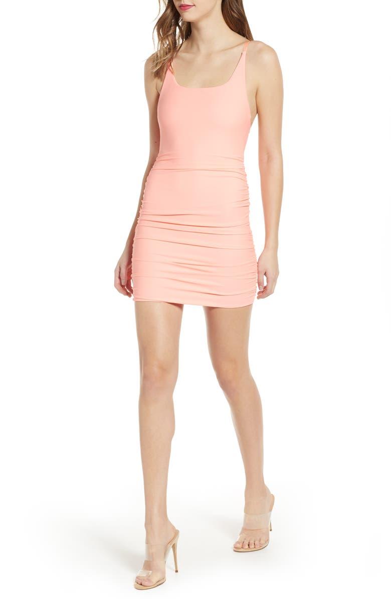 TIGER MIST Bondi Body-Con Dress, Main, color, CORAL