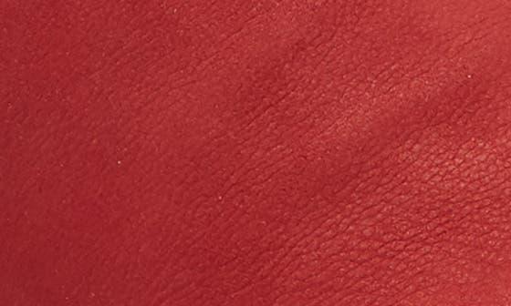 LIPSTICK RED/ BRONZE LEATHER
