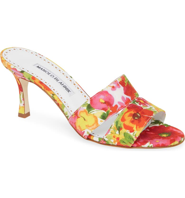 MANOLO BLAHNIK Iacopo Double Band Sandal, Main, color, FLORAL