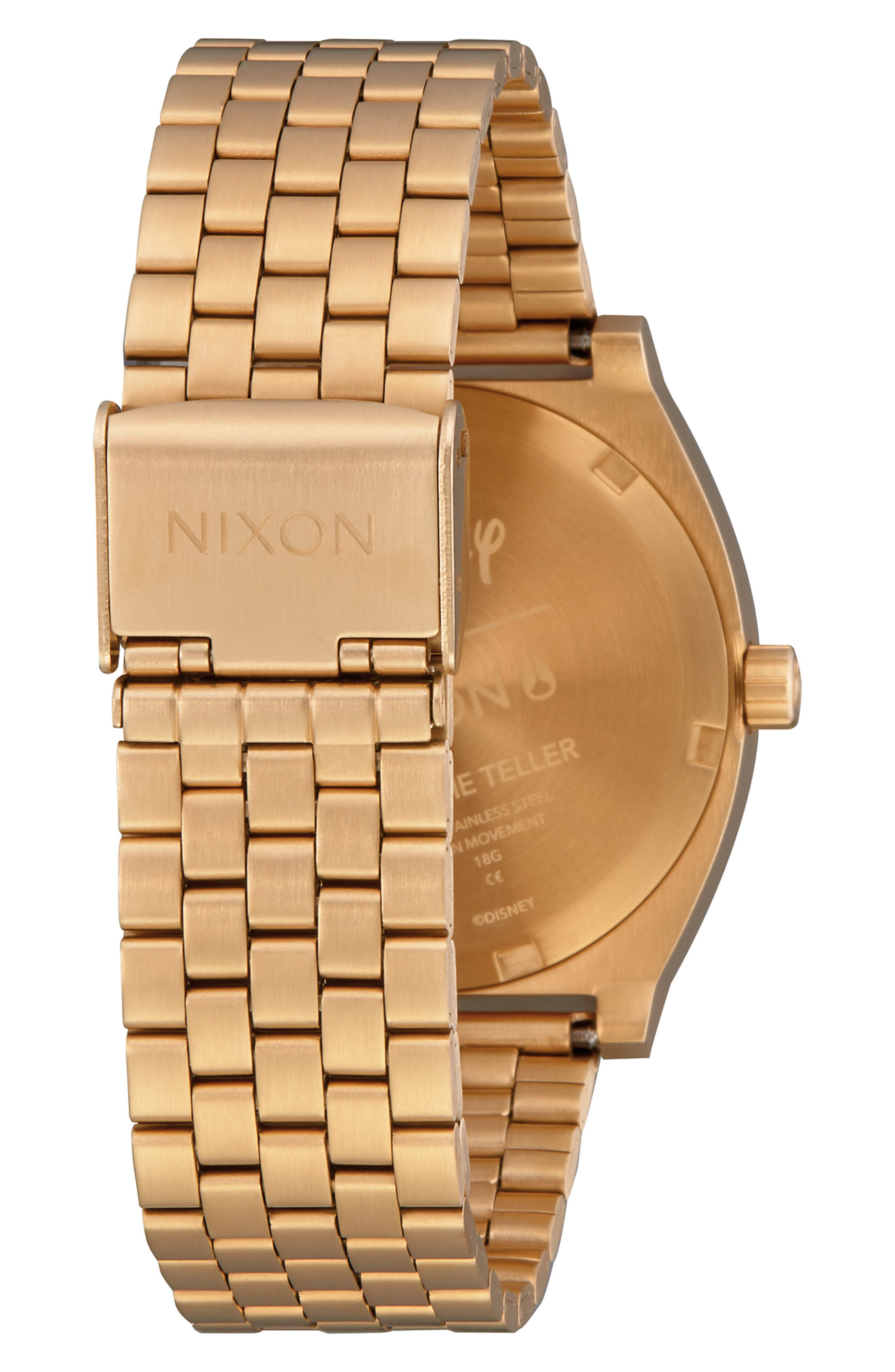 ,                             x Disney Time Teller Mickey Bracelet Watch, 37mm,                             Alternate thumbnail 2, color,                             GOLD/ BLACK/ GOLD