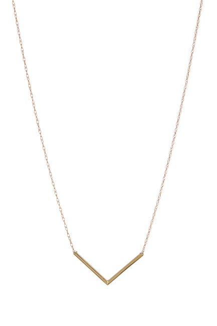 Image of Candela 14K Yellow Gold Chevron Necklace