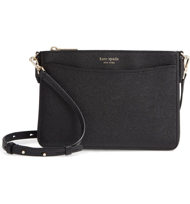 KATE SPADE NEW YORK margaux medium convertible crossbody bag, Main, color, BLACK