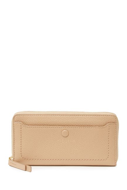Image of Marc Jacobs Leather Vertical Zip-Around Wallet
