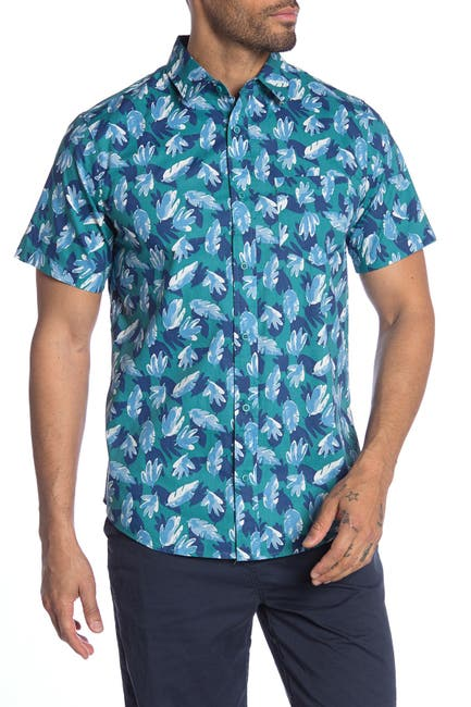 Image of Public Opinion Patterned Short Sleeve Regular Fit Printed Shirt