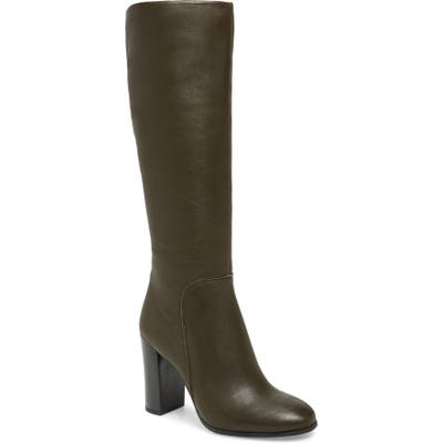Kenneth Cole New York Justin Water Resistant Knee High Boot- Green