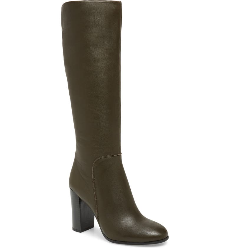 KENNETH COLE NEW YORK Justin Water Resistant Knee High Boot, Main, color, FERN LEATHER