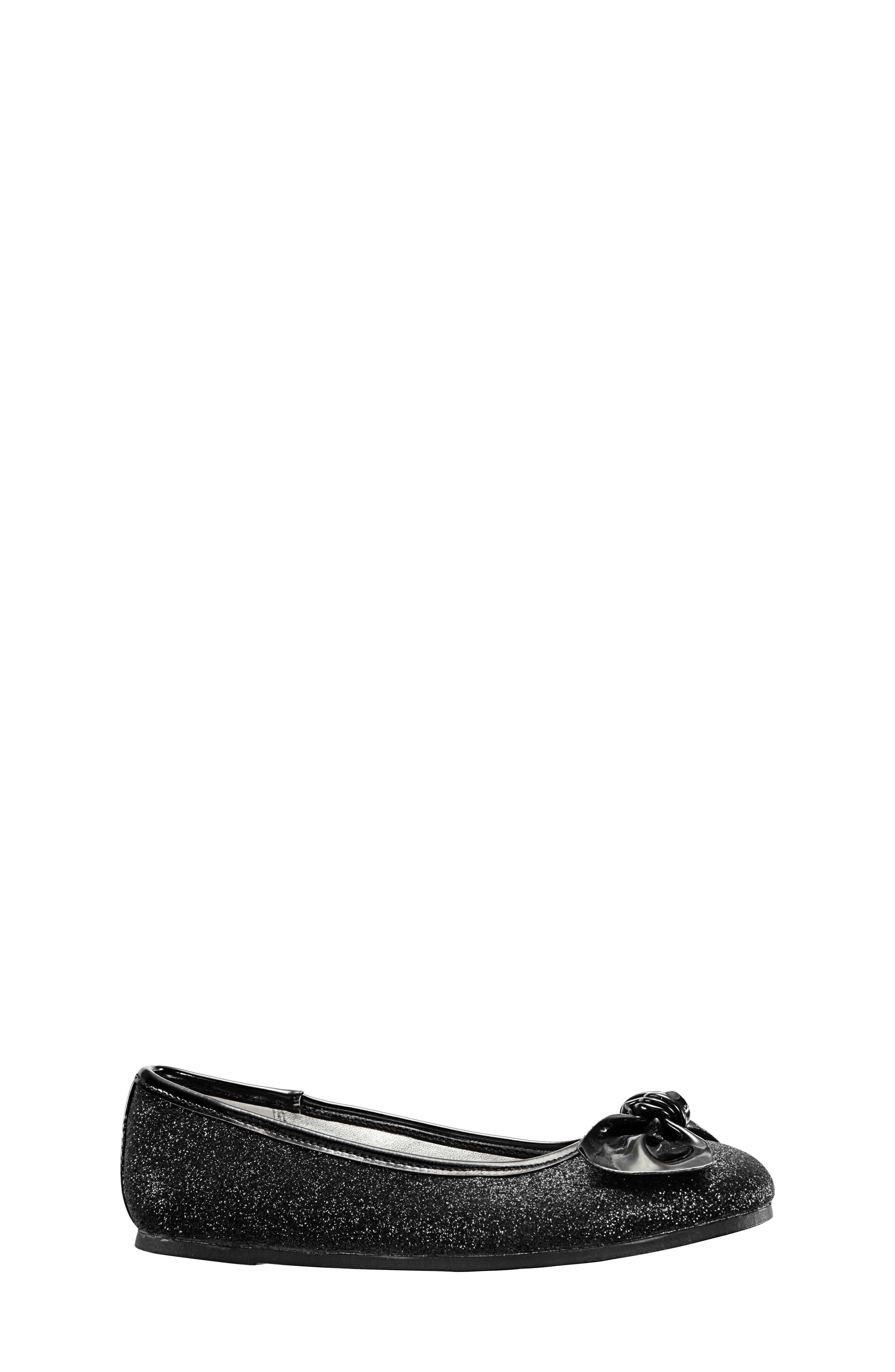 Girls Nina Larabeth Glitter Ballet Flat Size 5 M  Black