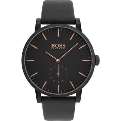 Boss Essence Leather Strap Watch, 42Mm