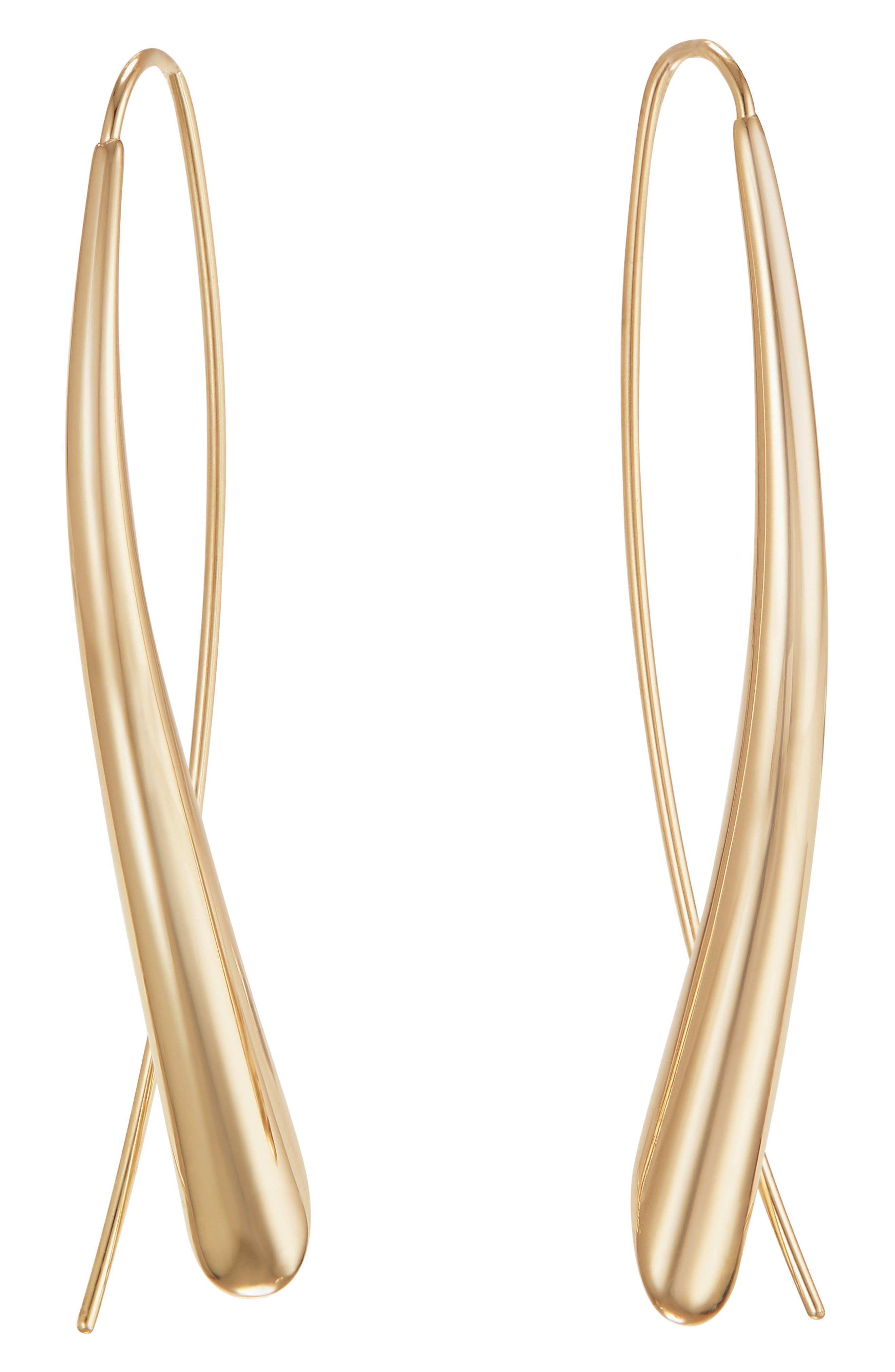 Narrow Upside Down Hoop Earrings
