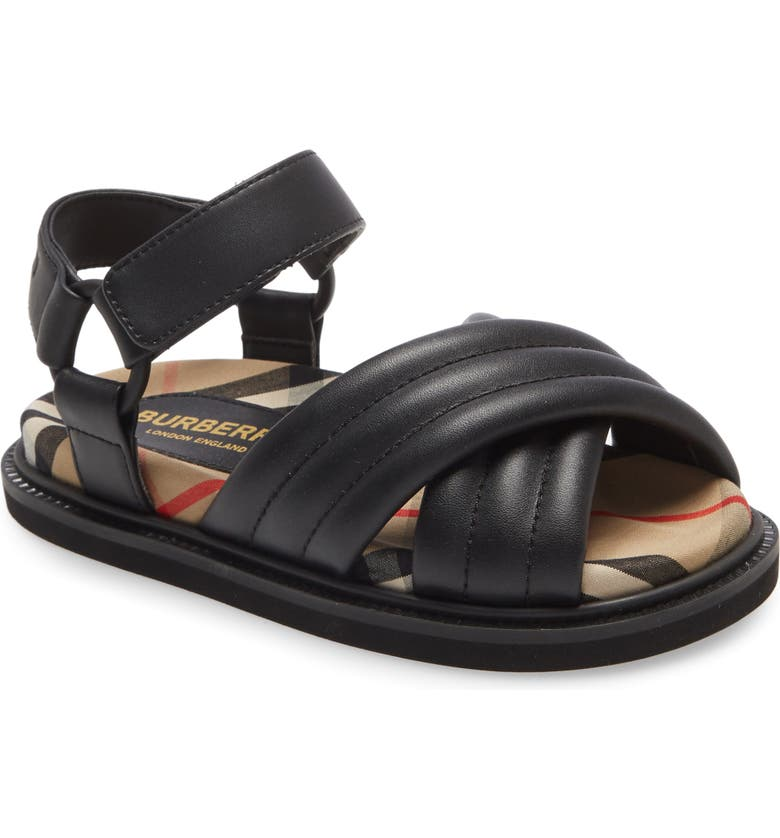 BURBERRY Clangley Sandal, Main, color, CHECK