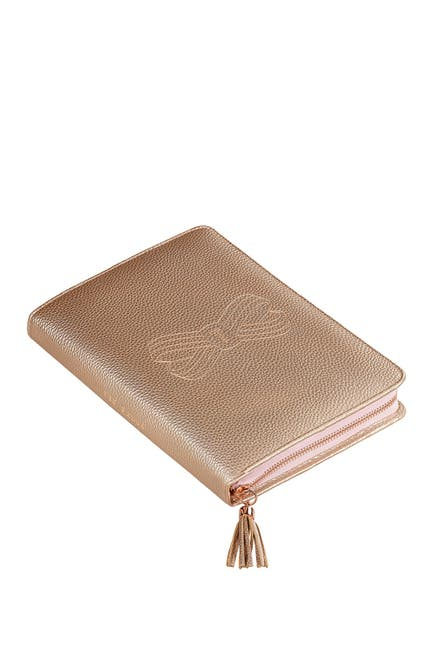 Image of Ted Baker London Bow Embossed Folio Notebook