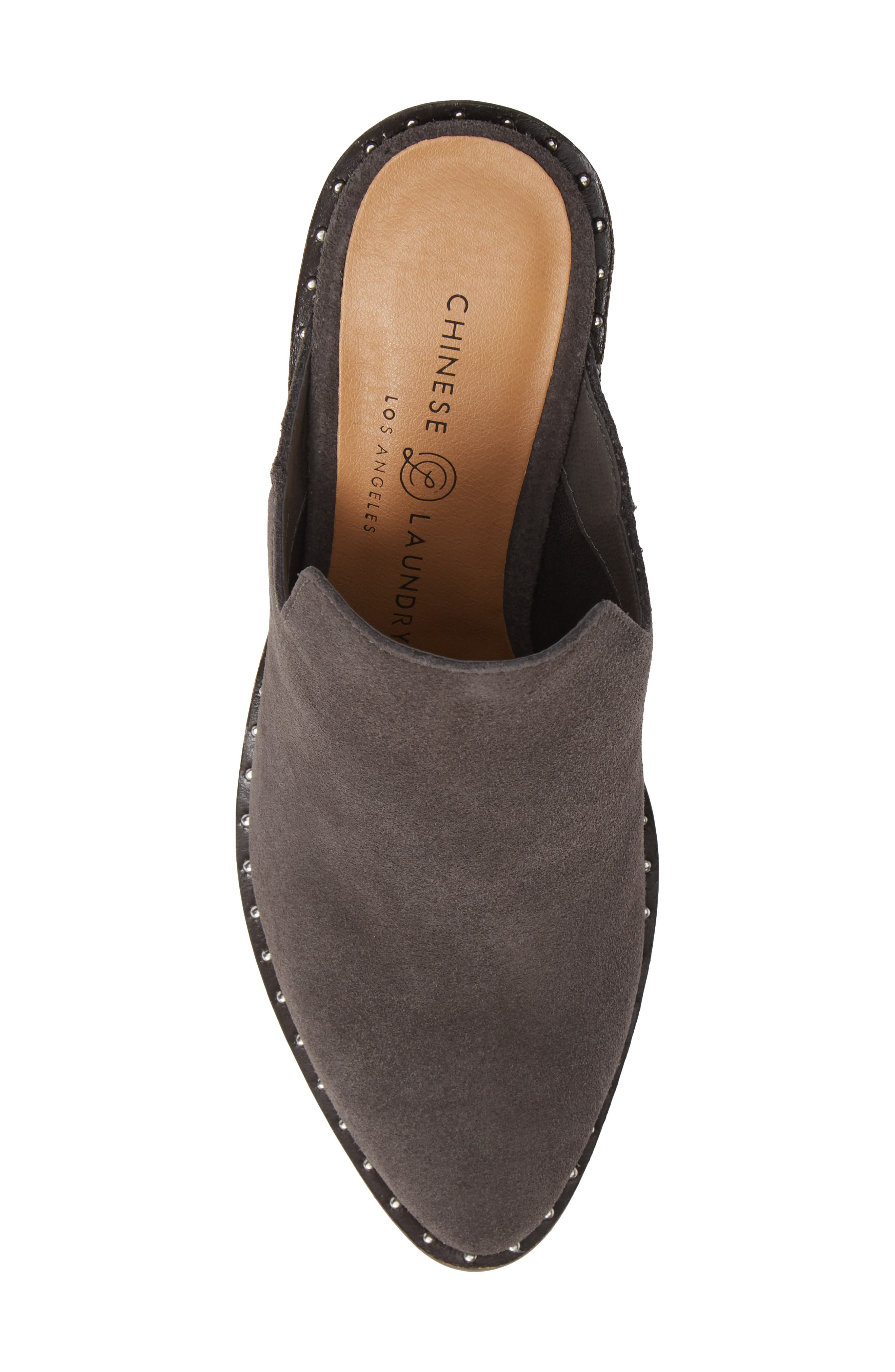 ,                             Springfield Mule Bootie,                             Alternate thumbnail 5, color,                             CHARCOAL SUEDE