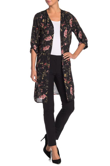 Image of Pleione Open Front Printed Duster