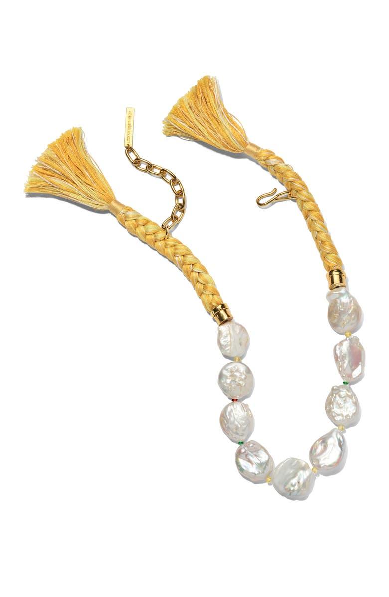 LIZZIE FORTUNATO Corsica Collar Necklace, Main, color, PEARL