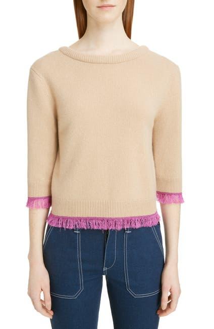 Image of Chloe Fringe Edge Cashmere Sweater