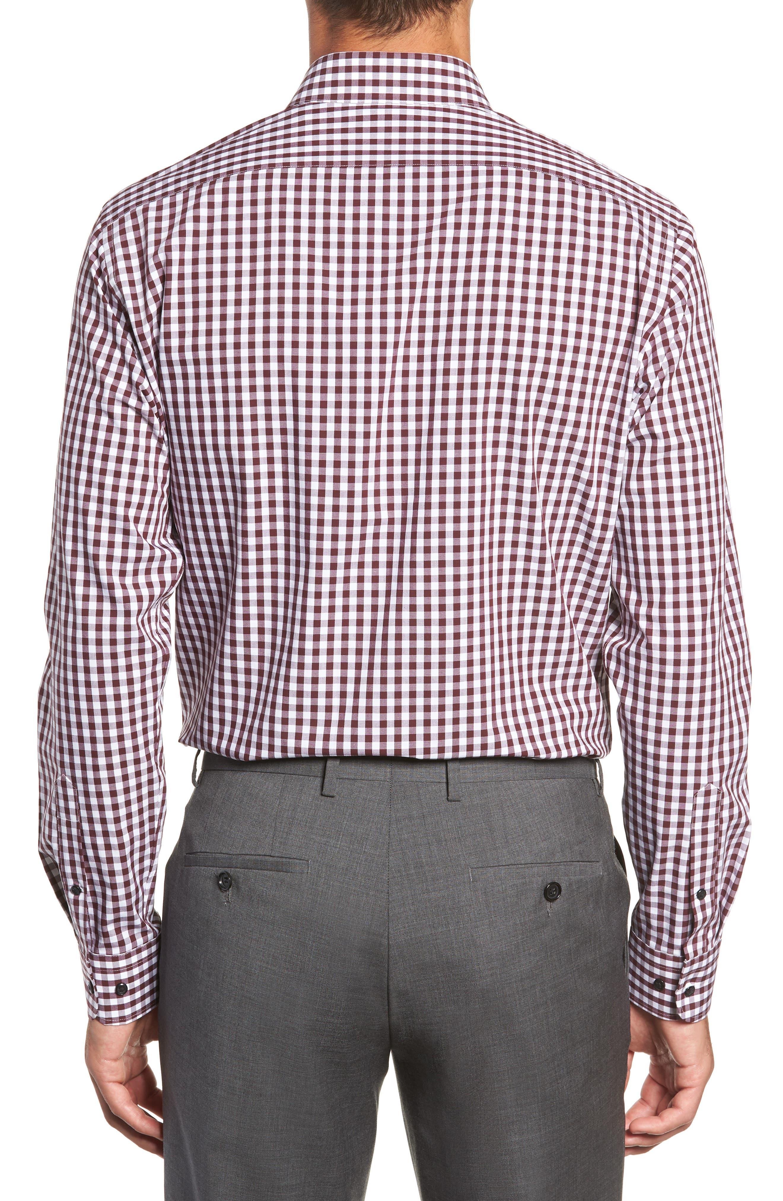 ,                             Tech-Smart Trim Fit Stretch Check Dress Shirt,                             Alternate thumbnail 53, color,                             930