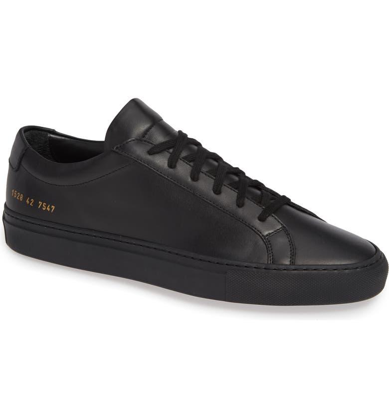 COMMON PROJECTS Original Achilles Sneaker, Main, color, BLACK LEATHER